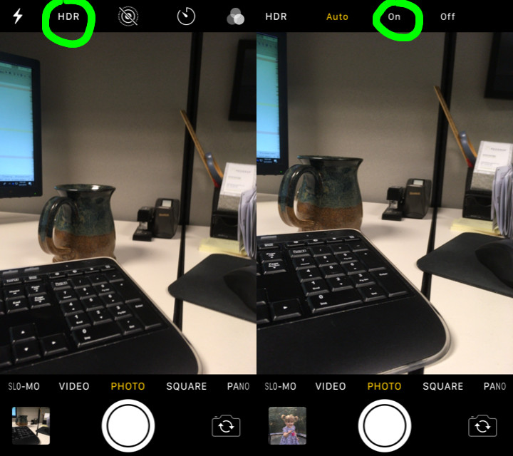 Enabling HDR Setting on IPhone